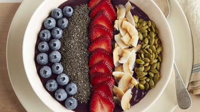 Berrylicious Smoothie Bowl Med Chiafrø – Oppskrift